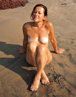Old Pussy On Beach